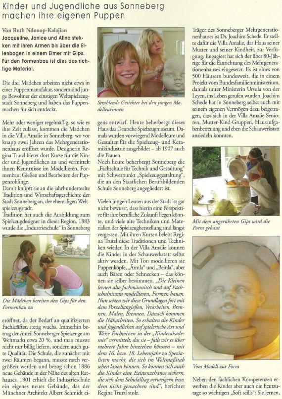Kinder, Jugendliche, Gips, Formen, Puppen, Regina Trutzl, Sonneberg